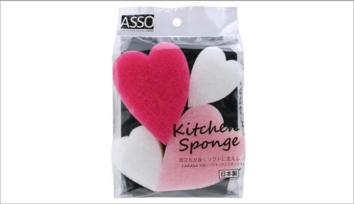 CARAful Antibacterial Soft Kitchen Sponge Heart