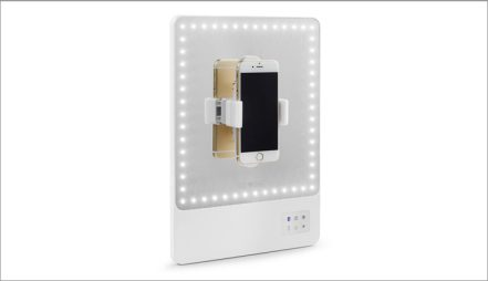 RIKI SKINNY Lighted Vanity Mirror with Selfie Function